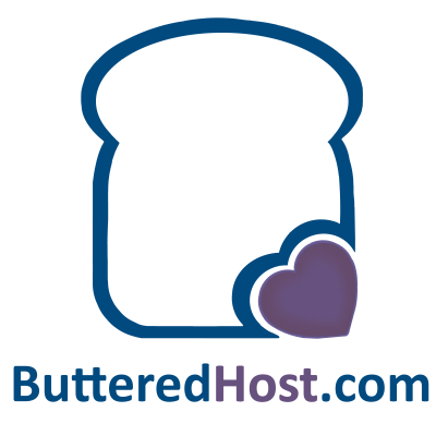 Isla and Gill buttered host