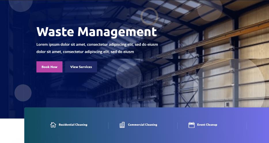 waste management templates