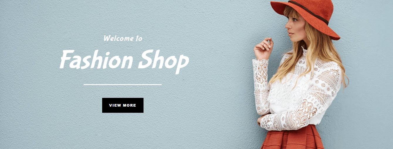 fashion shop template