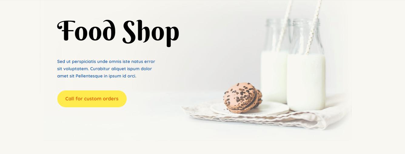 food shop template